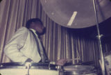 John Baldwin, a member of Bobby Moore and the Rhythm Aces, playing the drums at the Laicos Club in...