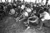 "Participants in the ""March Against Fear"" begun by James Meredith, seated and listening..."