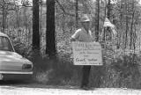 "White man walking alone, protesting the ""March Against Fear"" begun by James Meredith."