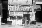 Signs and merchandise in front of The House of Common Sense and Home of Proper Propaganda in...