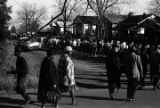 Men and women marching to the courthouse in Greenville, Alabama, during a civil rights...