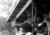 Edward Rudolph and others, standing on the porch of the Autauga County Improvement Association...