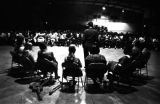 Julian Bond speaking to an audience at the National Guard Armory on Dallas Avenue in Selma,...