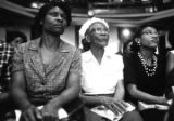 Women in the audience at Brown Chapel in Selma, Alabama, during a civil rights meeting.