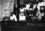 Audience in the balcony at Brown Chapel in Selma, Alabama, during a civil rights meeting.