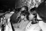 Barbara Howard Flowers and others, seated at a table at a club, probably in Montgomery, Alabama.