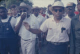 "James Meredith, Martin Luther King, Jr., and others, participating in the ""March Against..."