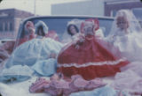 Dolls on the hood of a car during a First Monday trade day in Scottsboro, Alabama.