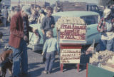 Man selling roasted peanuts during a First Monday trade day in Scottsboro, Alabama.