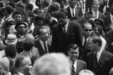 Presidential candidate Richard Nixon and Wilt Chamberlain in Martin Luther King, Jr.'s funeral...