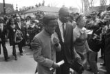 Sammy Davis, Jr., and others in Martin Luther King, Jr.'s funeral procession.