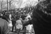 Coretta Scott King and her children in the funeral procession of Martin Luther King, Jr.