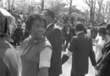Mourners at the funeral procession of Martin Luther King, Jr.