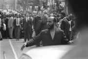 James Bevel in the funeral procession for Martin Luther King, Jr.