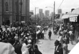Crowd on Auburn Avenue during Martin Luther King, Jr.'s funeral procession.
