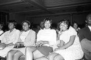 Young women in the audience during a performance of the Otis Redding Show at the Montgomery City...
