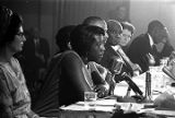 Unita Blackwell speaking at a hearing of the Senate Subcommittee on Employment, Manpower, and...