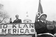 Alabama Grand Dragon James Spears speaking at a Ku Klux Klan rally in Montgomery, Alabama.