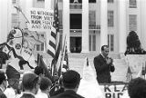 Alabama Grand Dragon James Spears speaking at a Ku Klux Klan rally in Montgomery, Alabama, from...