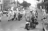 Police escort at a parade during a Ku Klux Klan rally in Montgomery, Alabama.