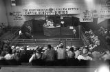 Audience at a livestock auction at Capital Stock Yards in Montgomery, Alabama.