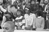Crowd in the bleachers during homecoming activities for Alabama State College on Thanksgiving Day...