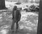 John Nixon in the dirt yard of his home in Autaugaville, Alabama.