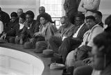 Audience seated in the balcony at Tabernacle Baptist Church in Selma, Alabama, probably listening...
