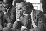 Men sitting in the balcony at Tabernacle Baptist Church in Selma, Alabama, probably listening to...