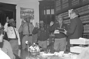 Sheriff Lucius Amerson and his deputies being sworn into office by Judge Preston Hornsby at the...