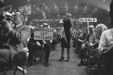 Audience at a rally in the Municipal Auditorium in Birmingham, Alabama, during Lurleen Wallace's...