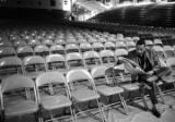 Bobby Moore seated in the front row at the Alabama State College Arena in Montgomery, Alabama,...