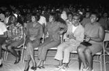 Women in the audience during a performance of the James Brown Show at the Alabama State College...