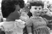 Two dolls on display at the H. L. Green Department Store on Dexter Avenue in Montgomery, Alabama.