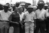 Ralph Abernathy, Coretta Scott King, Martin Luther King, Jr., Floyd McKissick, and others,...