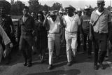 "Coretta Scott King, Martin Luther King, Jr., and others, participating in the ""March Against..."