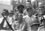 "Crowd of observers in downtown Philadelphia, Mississippi, during the ""March Against..."