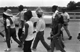 "Participants in the ""March Against Fear"" through Mississippi, begun by James Meredith,..."