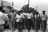 "Participants in the ""March Against Fear"" begun by James Meredith, walking through a..."