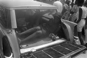 "Two young women lying in the back of a station wagon during the ""March Against Fear""..."