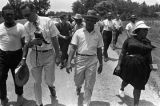 "Martin Luther King, Jr., Fannie Lou Hamer, and others, participating in the ""March Against..."