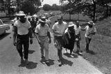 Martin Luther King, Jr., Fannie Lou Hamer, Andrew Young, and others, participating in the...