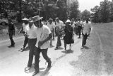 Andrew Young, Martin Luther King, Jr., Fannie Lou Hamer, and others, participating in the...