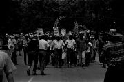"Participants in the ""March Against Fear"" begun by James Meredith, leaving the campus of..."