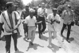 "Participants in the ""March Against Fear"" through Mississippi, begun by James Meredith."
