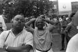 "Audience at a gathering in Canton Square in downtown Canton, Mississippi, during the ""March..."