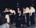 "George Wallace presenting the ""Outstanding Vocal Group"" award to the Commodores at the..."