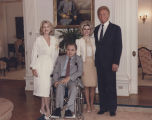 Actors Constance Towers and Harve Presnell with George and Lisa Wallace at the Governor's Mansion...