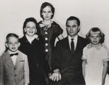 Judge George Wallace with his wife, Lurleen, and their children.