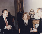 George Wallace with Aldo Moro, prime minister of Italy.